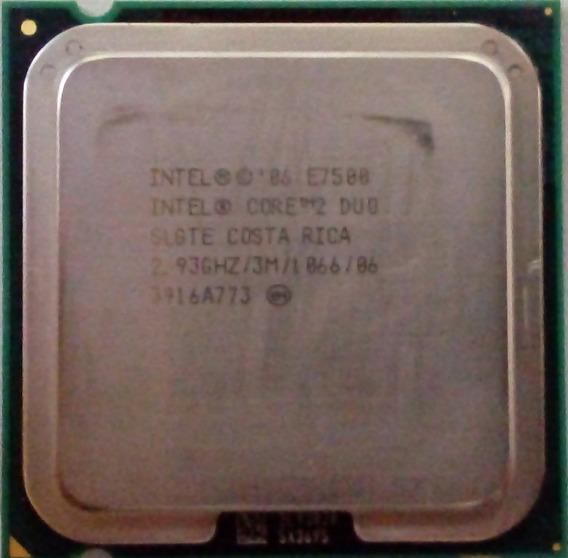 Processador Intel Core 2 Duo E7500 775 3m 2,93ghz 1066mhz