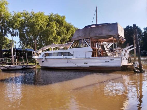 Pedroni 10.20 Barco Crucero De Madera Excelente