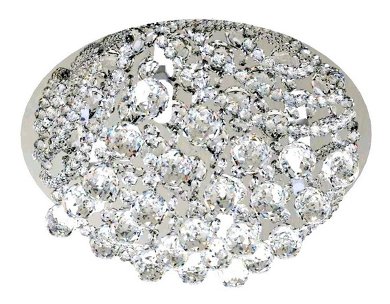 Plafon De Cristal 30cm Sala Hall Quarto Corredor 950-30 Led