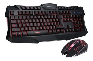Teclado Y Mouse Gamer Noganet Nkb 5320 Scorpion Led Usb