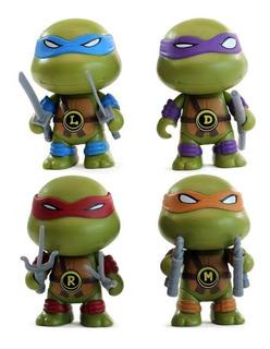 Tortugas Ninja X 4 Tremenda Calidad 9 Cm Ideal Tortas