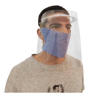 Mascara Proteccion Facial Ojos Nariz Boca + Tapaboca X 10 U