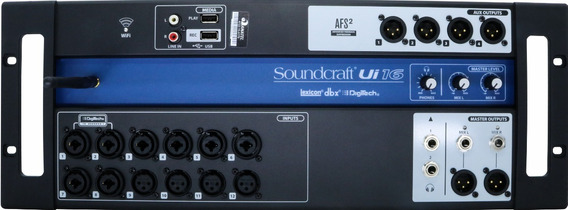 Mesa De Som Digital Soundcraft Ui16 16 Canais Original Nfe