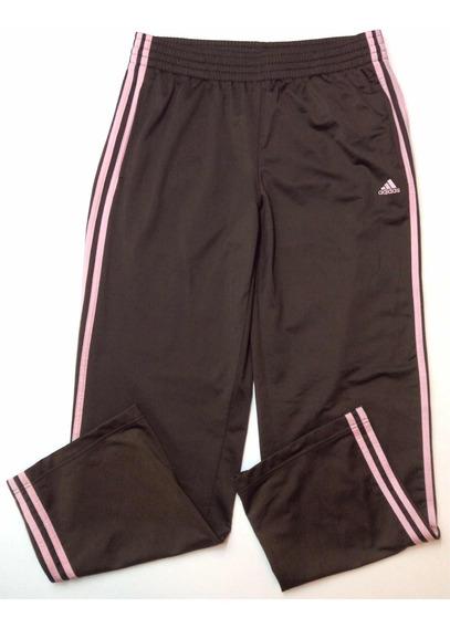 Pantalon adidas Deportivo Ancho Mujer Marron Talle L