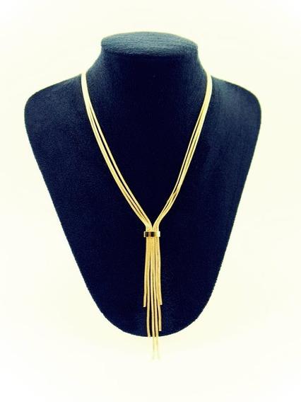 Colar Elegante Clássico Banhado A Ouro 18 K. Promoção