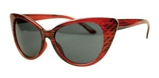 Óculos Escuro Sol Moda Vintage Estilo Cateye Gatinha