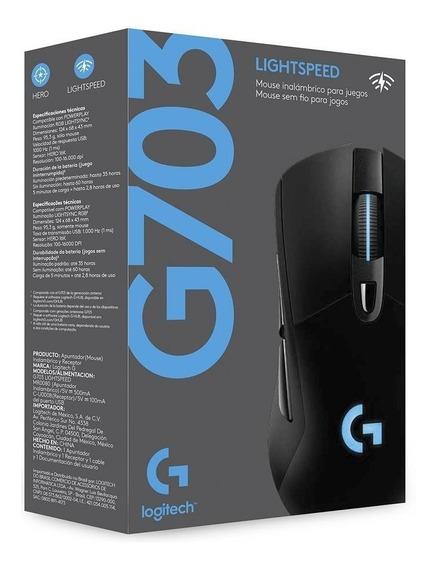 Mouse Logitech G703 Hero Wireless Lightspeed 16.000 Dpi