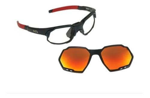 Óculos Hb Rush Matte Navy Multi Red P/ Uso Com Grau