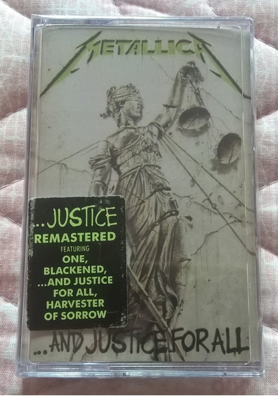 Fita Cassete K7 Metallica And Justice For All Europeia Lacra