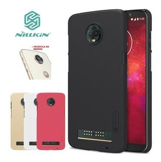 Capa Case Original Motorola Moto Z3 Play Nillkin + Película