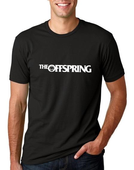 Camiseta Masculina The Offspring Logo Moderna Estilosa