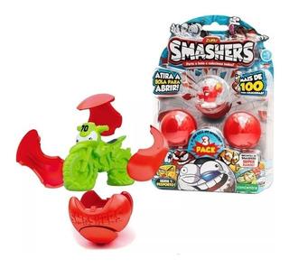 Smashers Pack X3 Figuras Sorpresa Serie 1 Wabro