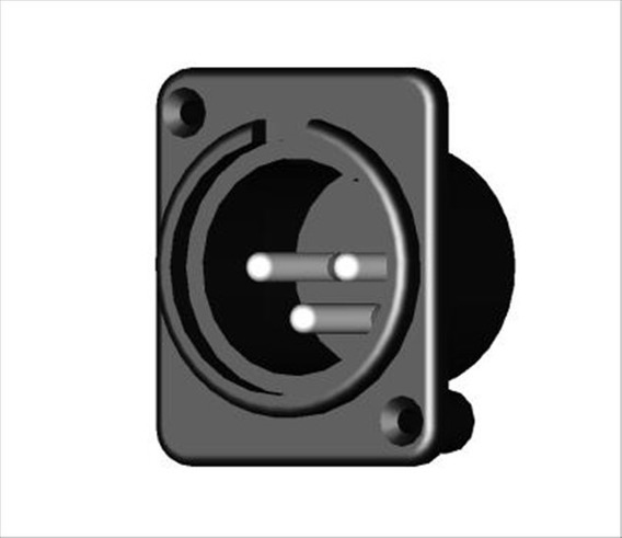 Kit Com 10 Conectores Painel Xlr Macho Medusa Staner