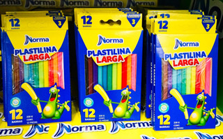Unidad Plastilina Larga, 12 Barras, 220 Gr