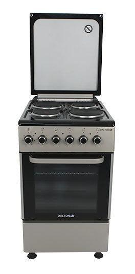 Cocina Eléctrica 50cm 4 Hornallas Grill Tapa Dalton Novogar