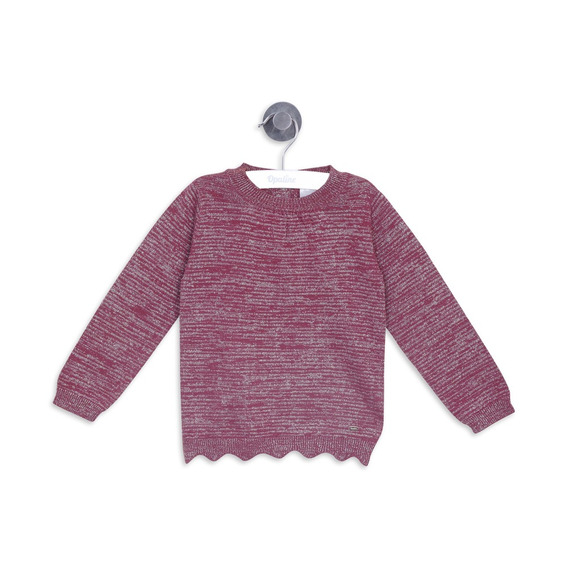 Sweater Liso Burdeo Girl Opaline