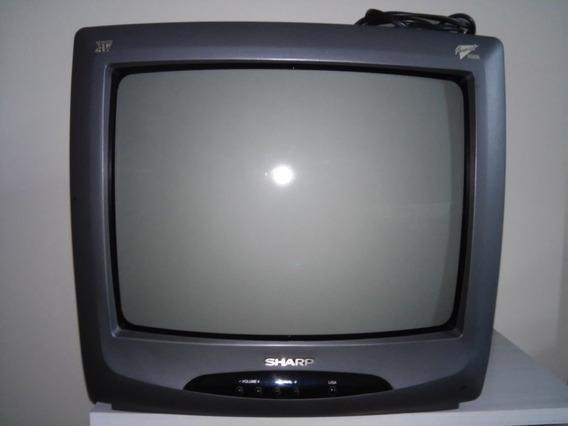 Tv Sharp 14 Polegadas Cores C/ Controle E Funcionando C-1438