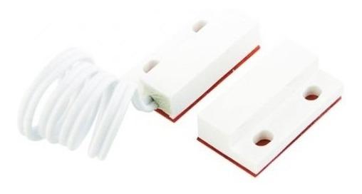 Sensor Magnético De Abertura Com Fio Branco Msa Com 5 Pares