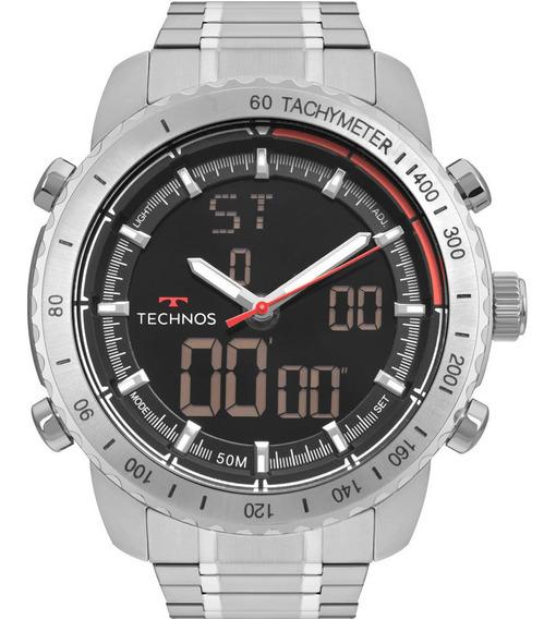 Relógio Technos Masculino Prata Digital W23745aa/1p