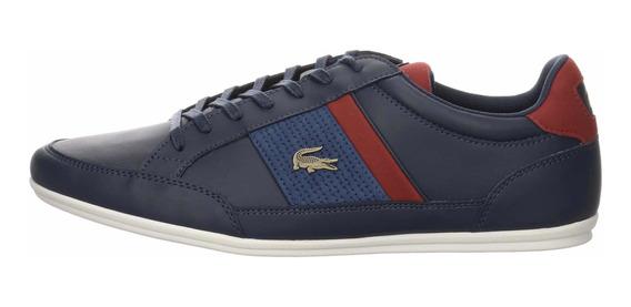 Tenis Para Hombre Lacoste Chaymon Azul Casual Tipo Zapato