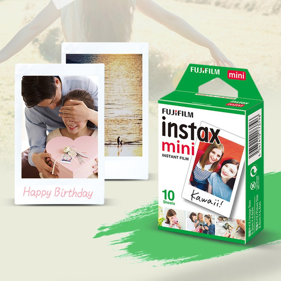 3*fujifilm Instax Mini 10 Folhas Papel Branco Papel