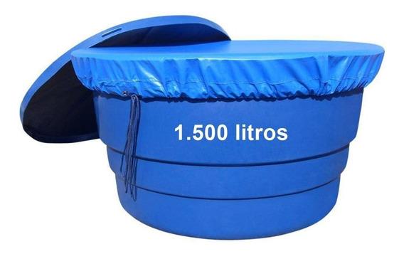 Capa Para Caixa Dágua Redonda De 1500 Lts Lona - Em 24 Hs