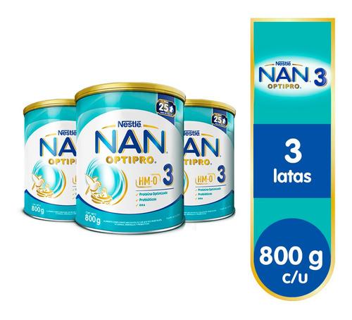 Nan® Optipro 3 - 3 Latas De 800g C/u
