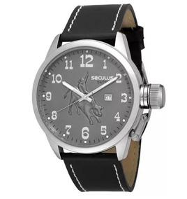 Relógio Seculus Couro - 20131goscnc2
