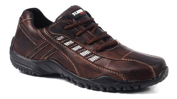 Sapatênis Masculino Cadarço Sapato 100% Couro Legitimo 37/48