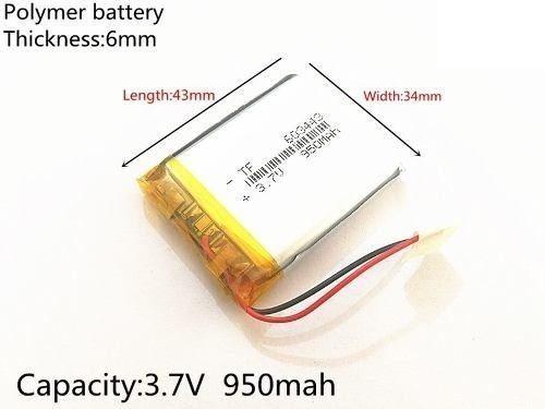 Bateria Powerpack Gps 5 Polegadas 950mah 3,7v 603443 2 Fios