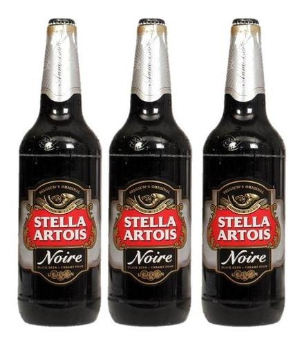 Cerveza Stella Artois Noire 970 Ml X3