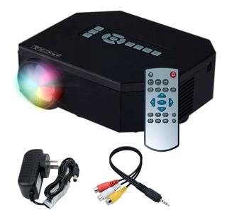 Mini Proyector Portatil Tv Led 150l Video Usb Vga Uc30 Hdmi+