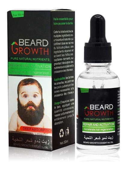 Aceite Natural Serum Estimula Crecimiento De Barba Y Pelo