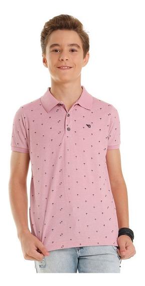 Camisa Juvenil Masculina Polo Piquêt Bgo Tam 12 14 16