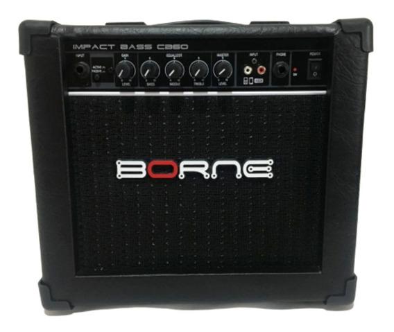 Cubo Amplificador Para Baixo Borne Impact Bass Cb60 - Preto