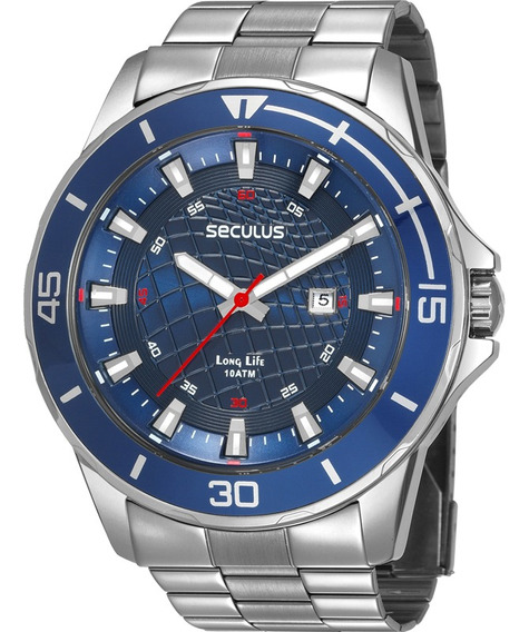 Relógio Masculino Seculus Long Life 28994g0svna2
