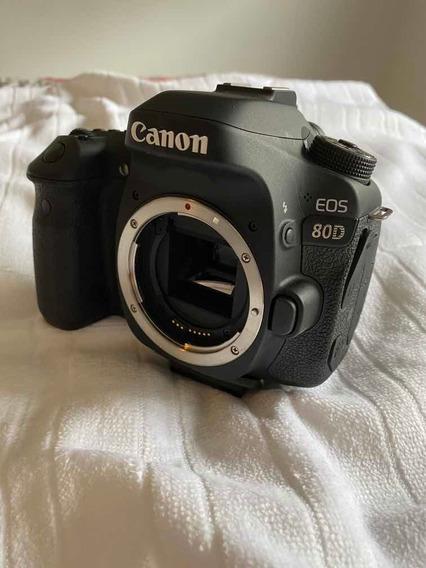Camera 80d Canon Menos De 2 Mil Cliques Novinha + Acessori
