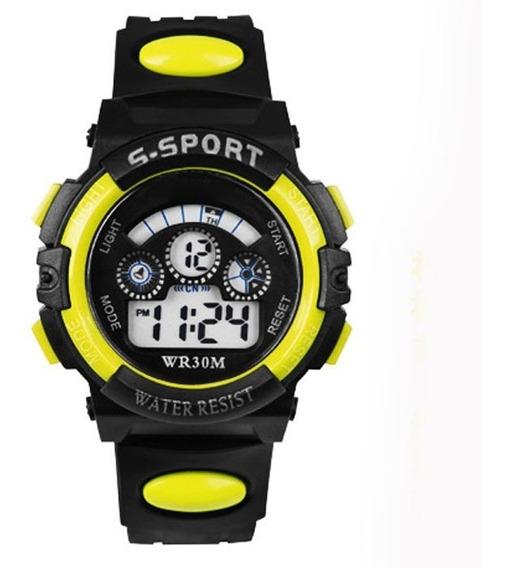 Kit 2 Relógios Digital Criança Led Modelo G-shock C/ Brinde!