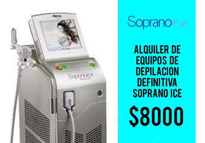 Alquiler De Equipo Soprano Ice Depilación Definitiva