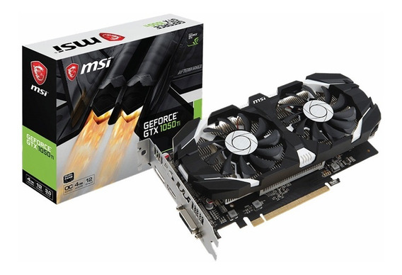 Placa De Video Geforce Msi Gtx 1050ti 4gb Oc Gddr5 Xellers 1