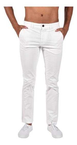 Pantalón Straight Fit Tommy Blanco Mw0mw06393100 Hombre