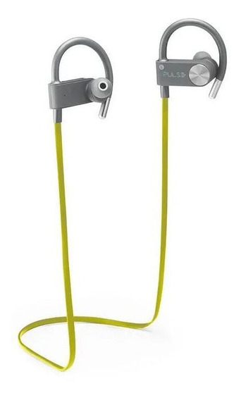 Fone Earhook In-ear Sport Metallic Bluetooth Amarelo Ph254