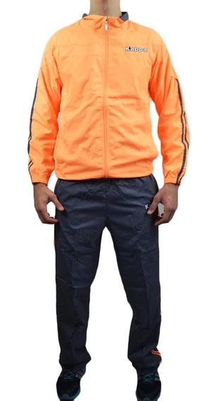 Agasalho Kappa Sportswear Quebra Vento Tactel Masculino + Nf