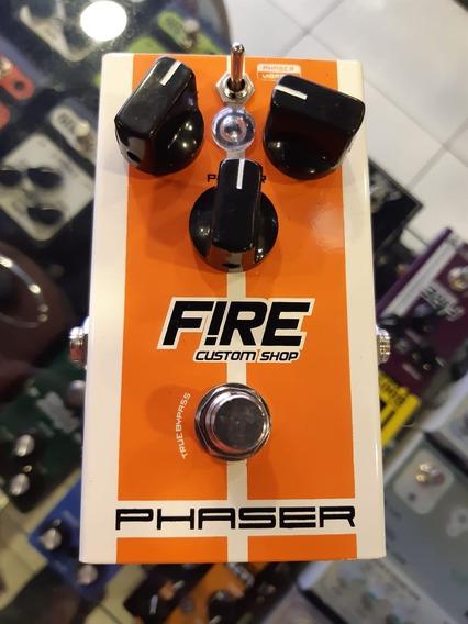 Pedal Efeito Fire Phaser Vibrato Pra Guitarra E Baixo