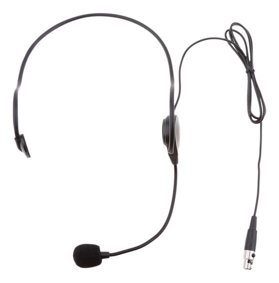 Fone De Ouvido Preto Headset Microfone Gancho De Ouvido 3.5m