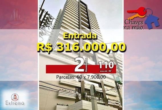 Apartamento Duplex Com 2 Dormitórios À Venda, 110 M² Por R$ 790.000,00 - Canto Do Forte - Praia Grande/sp - Ad0003