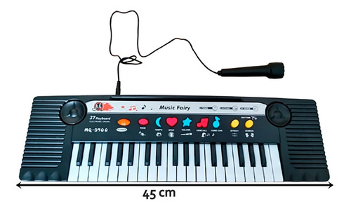 Teclado Piano Infantil C/ Microfone - Musical Resistente