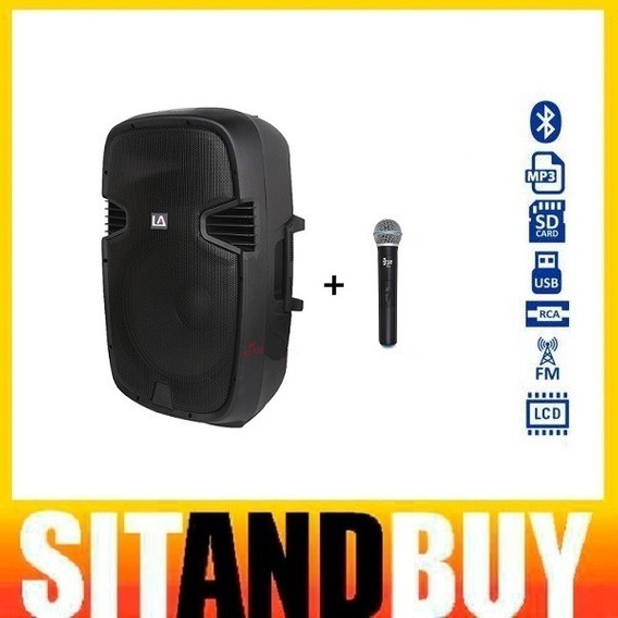 Locação Caixa De Som Portátil 12 Polegadas Mp3 Bluetooth C/ Microfone Sem Fio