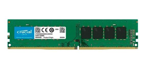 Memoria Ddr4 Crucial 4gb Pc 2666mhz Udimm Garantia