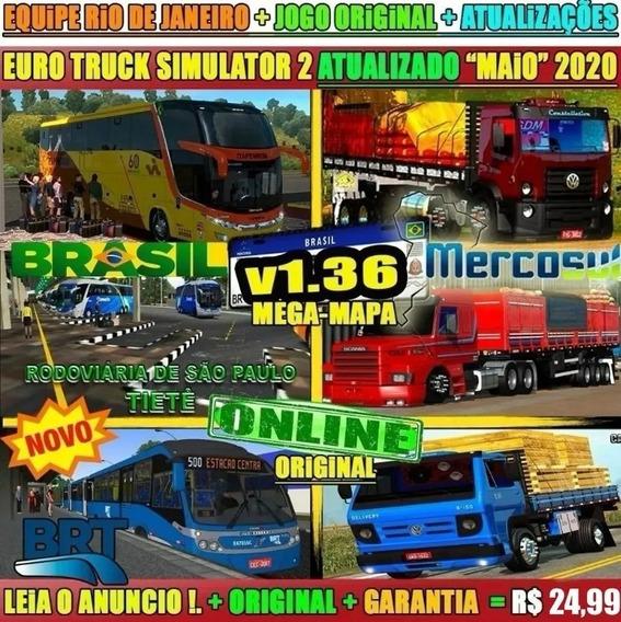 Jogo Euro Truck Simulator 2 Brasil Total 2020 Envio Imediato